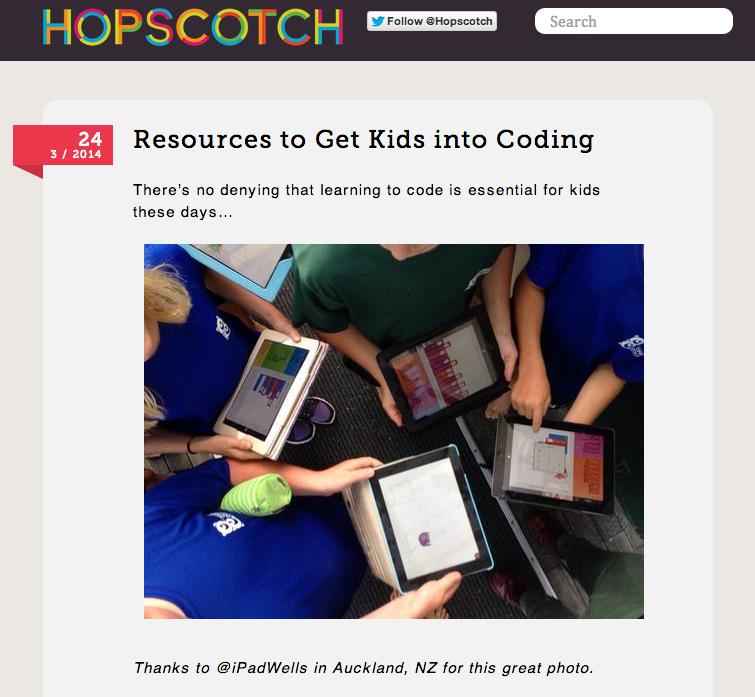 @ipadwells & OC on Hopsctch Blog