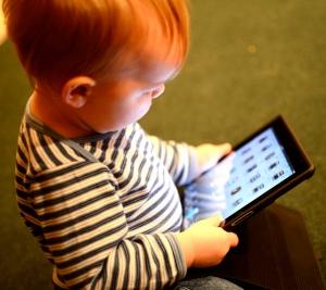 baby on iPad