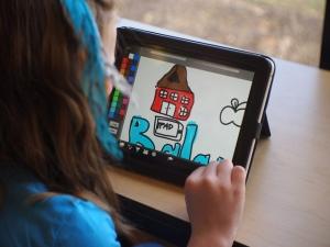 ipad kid drawing